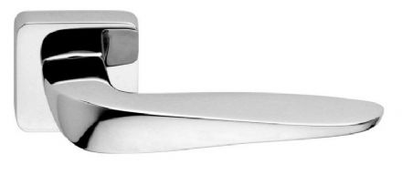 Frascio 710/50QR/PCP Aria Door Handle On Radius Square Rose Polished Chrome